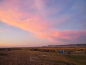 Crystal Crane Campground Sunset
